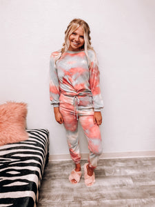 """Let's Get Cozy"" Tie Dye Top-The Twisted Chandelier--The Twisted Chandelier"