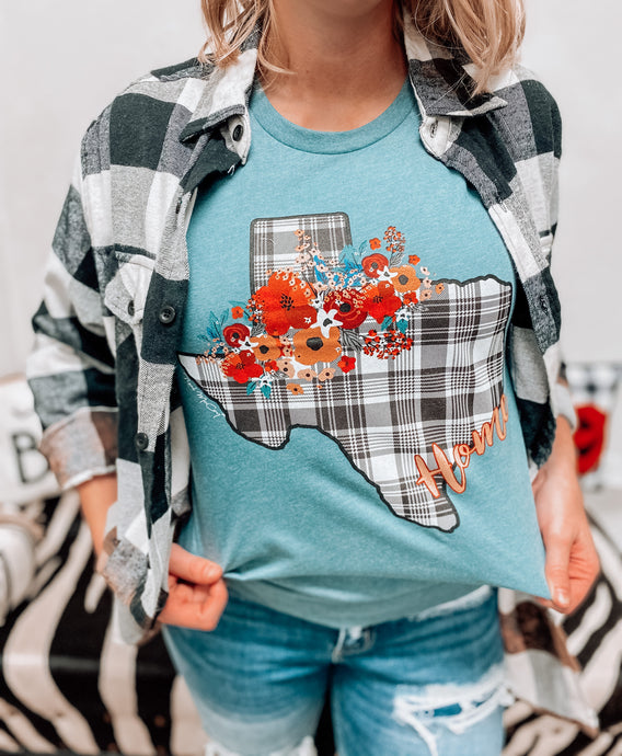 Texas Flannel T-Shirt-The Twisted Chandelier-OCT2020-The Twisted Chandelier
