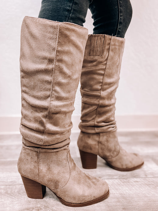 Layla (Taupe Suede) Boots-Boots-Qupid-Boots, fall boots, November2020, winter boots-The Twisted Chandelier