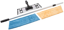 Load image into Gallery viewer, Velcro Microfiber Mopping System with Telescopic Handle and One Dry Dusting Pad and Wet Mopping Pad