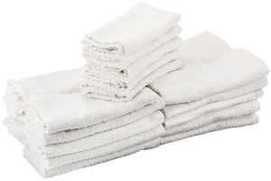 Ask Cindy's White Terry Cloth Towels - 100% Cotton (25 Pack)