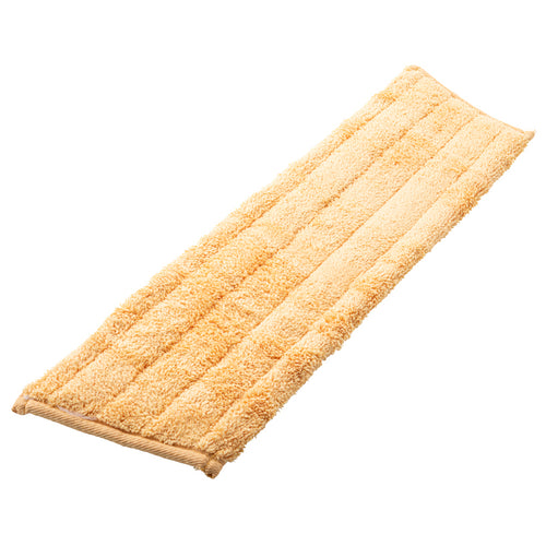 Replacement Golden Yellow Velcro Attaching Microfiber Pad: Dry Dusting
