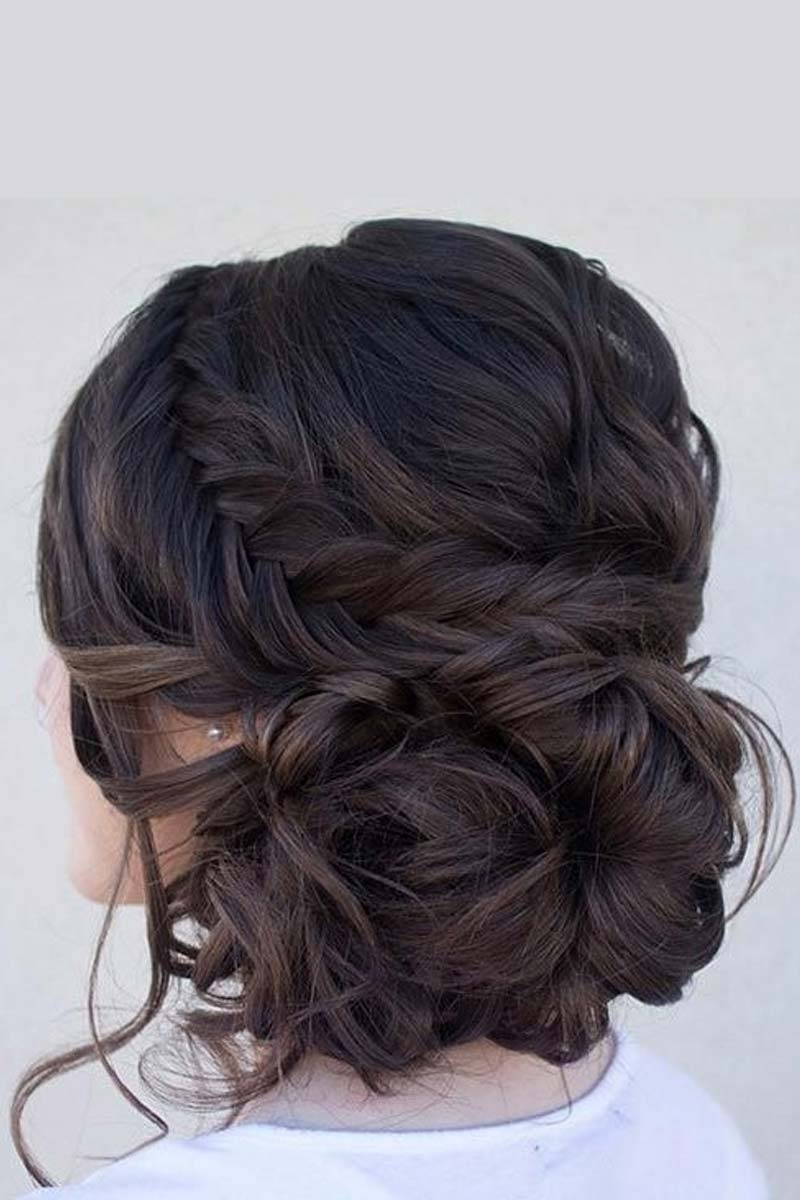 Hottest Haircuts Curly Side Bun