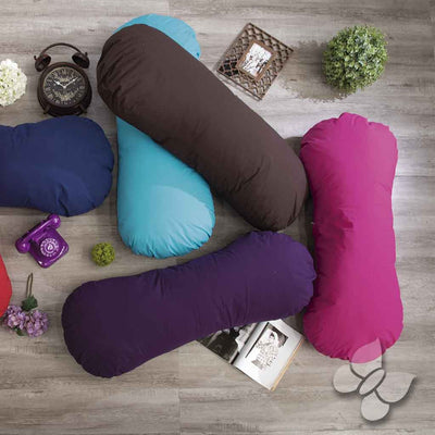 imagen de body pillow en color chocolate
