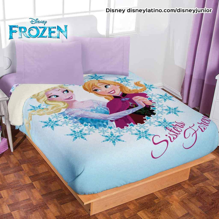 Disney Frozen Cobertor Fleece con Borrega