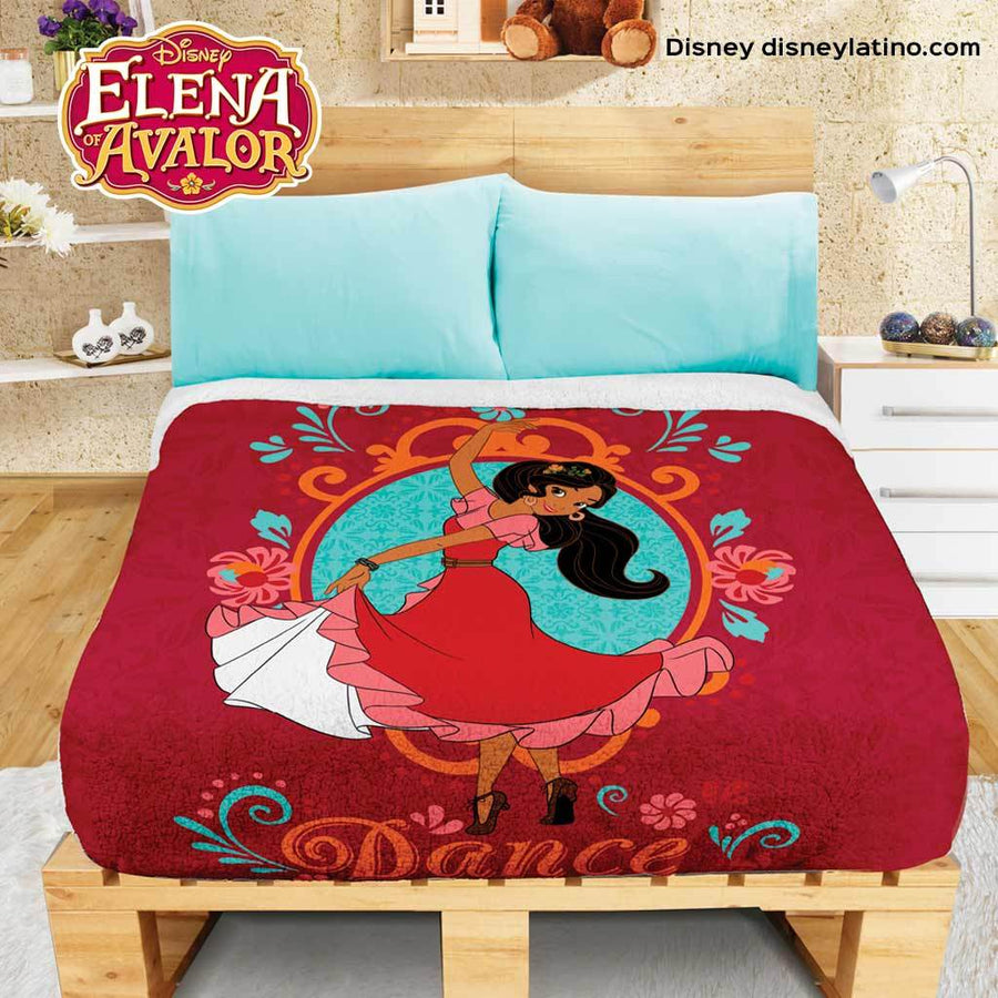 Disney Elena of Avalor Cobertor Fleece con Borrega