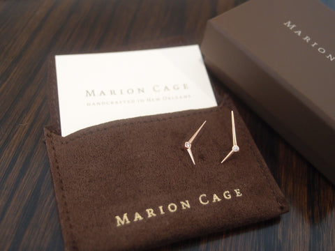 Learn how to clean jewelry without damaging or compromising it with these tips from Marion Cage, including storing jewelry in the protective pouch it came in, such as the protective pouch from Marion Cage pictured here.