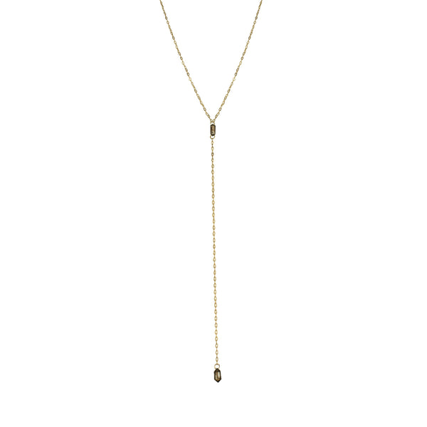 diamond briolette plunge necklace