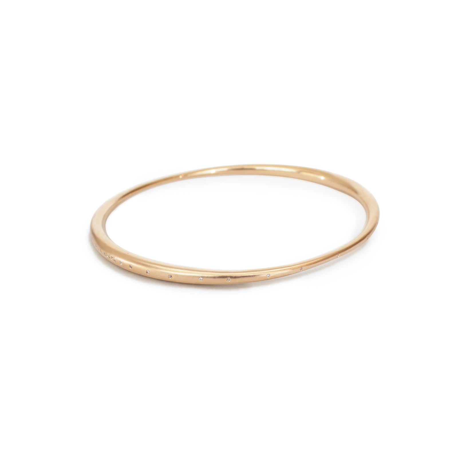 14k yellow gold w/ white diamonds arpent bangle