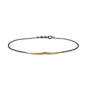 14k yellow gold mirror arpent bracelet