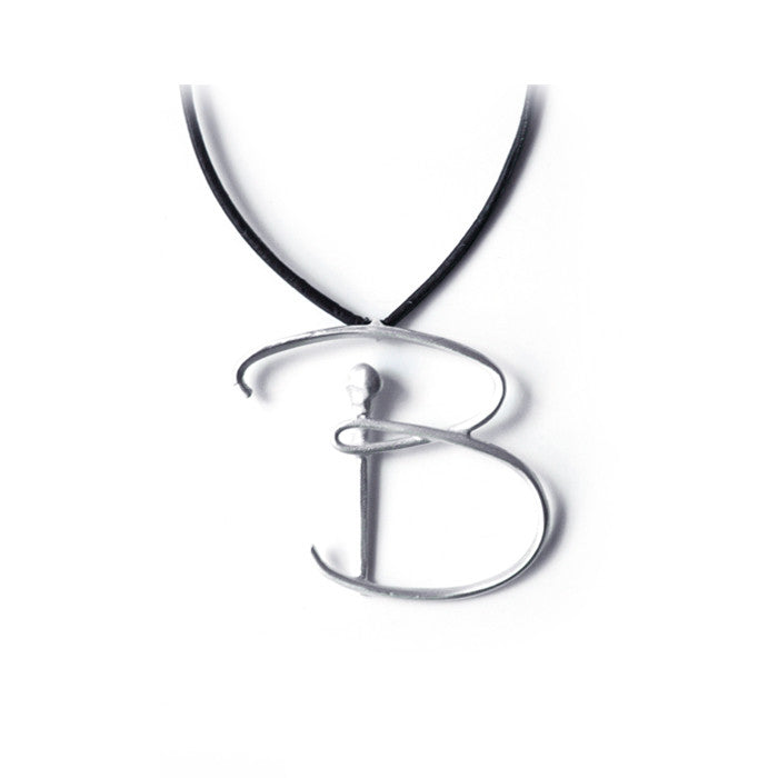 sterling silver / B lettres pendant