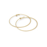 Medium / 14k yellow gold round dainty hoops, carla caruso