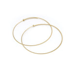 large / 14k yellow gold round dainty hoops, carla caruso