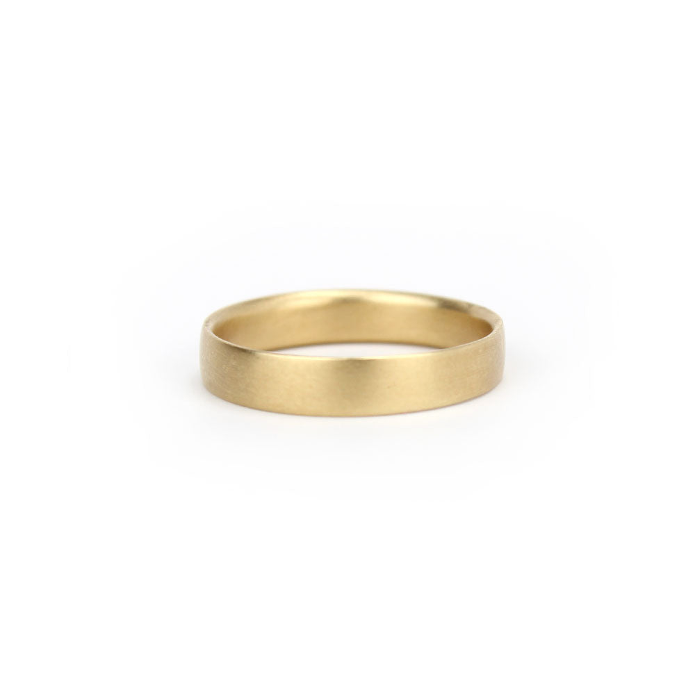 14k yellow gold / Medium / 6.5 flat wedding band, carla caruso