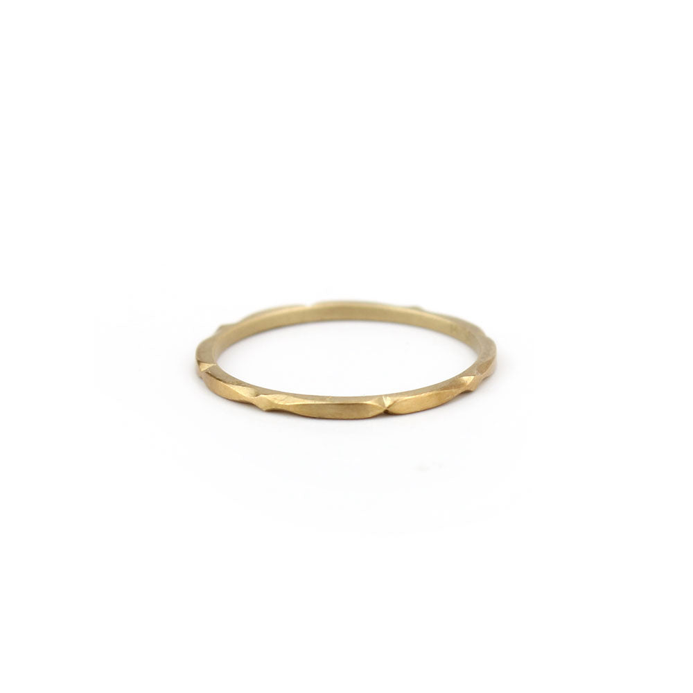 14k yellow gold tiny moroccan ring, carla caruso