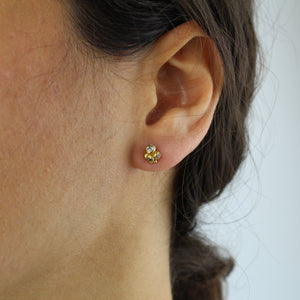 mixed diamond cluster studs, ruth tomlison