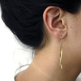 double sliver earrings