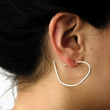 drawn hoop earrings