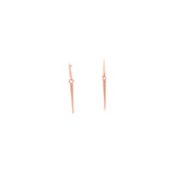 18k rose gold / small mirror point dangle earrings