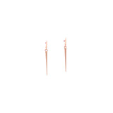 18k rose gold / medium mirror point dangle earrings