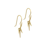 trio point dangle earrings