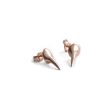 14k rose gold talon studs