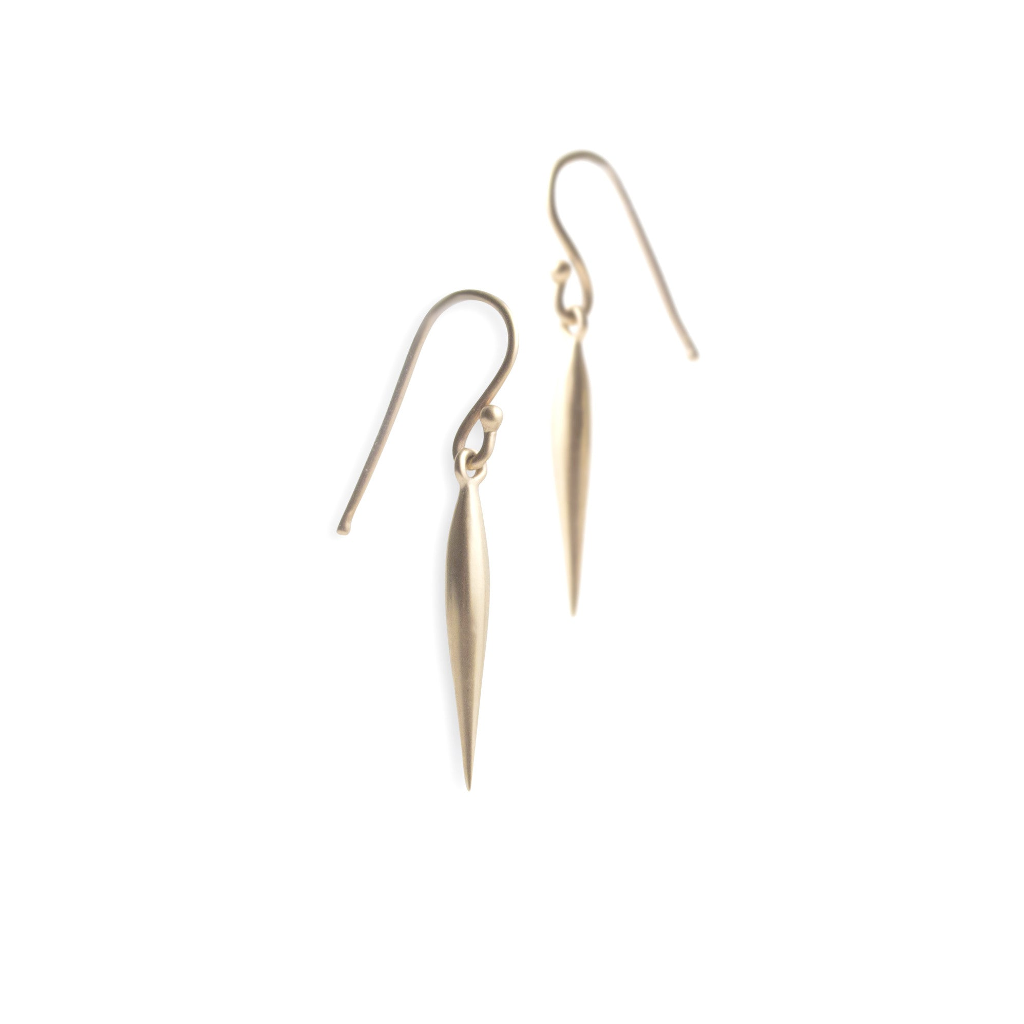 14k yellow gold - small swell dangle earrings