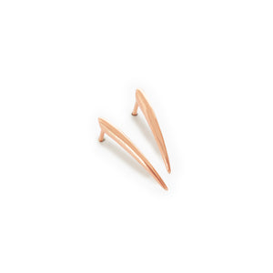 small / 14k rose gold ankole studs