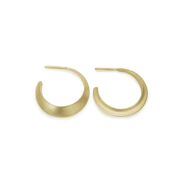 14k yellow gold minor eclipse hoops