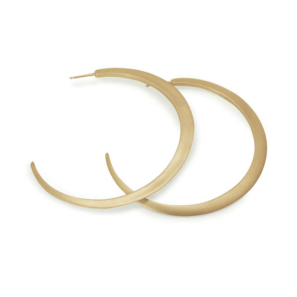 14k yellow gold major eclipse hoops