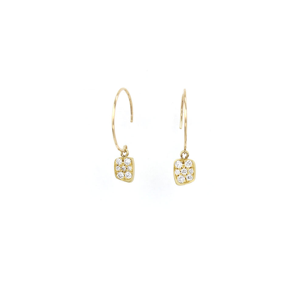 square pave totem earrings