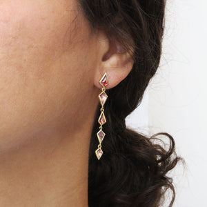 spinel cascade earrings