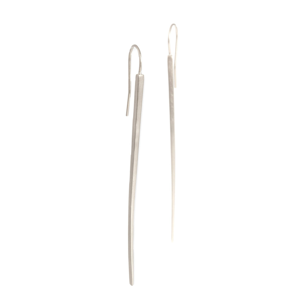 long sliver earrings