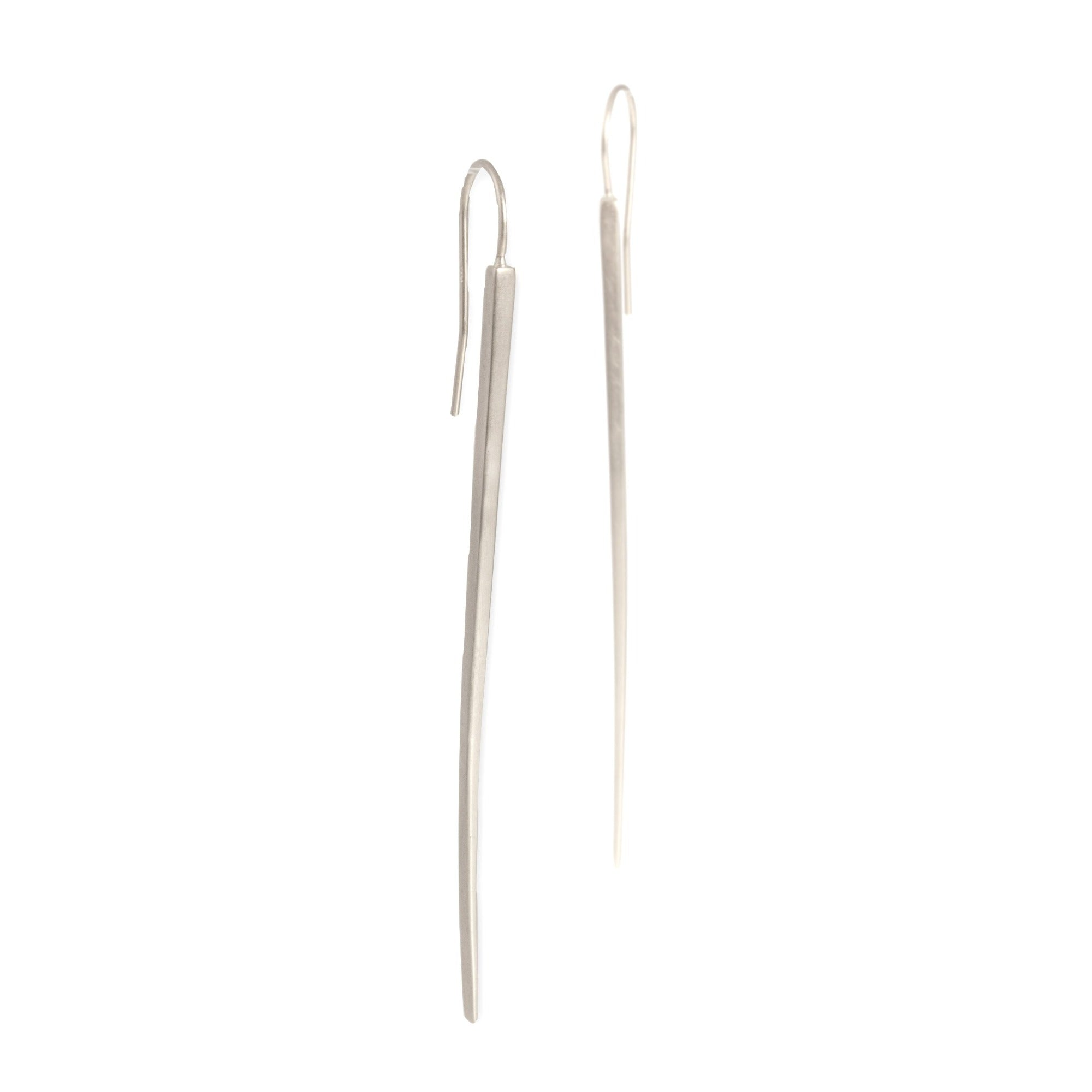 sterling silver long sliver earrings