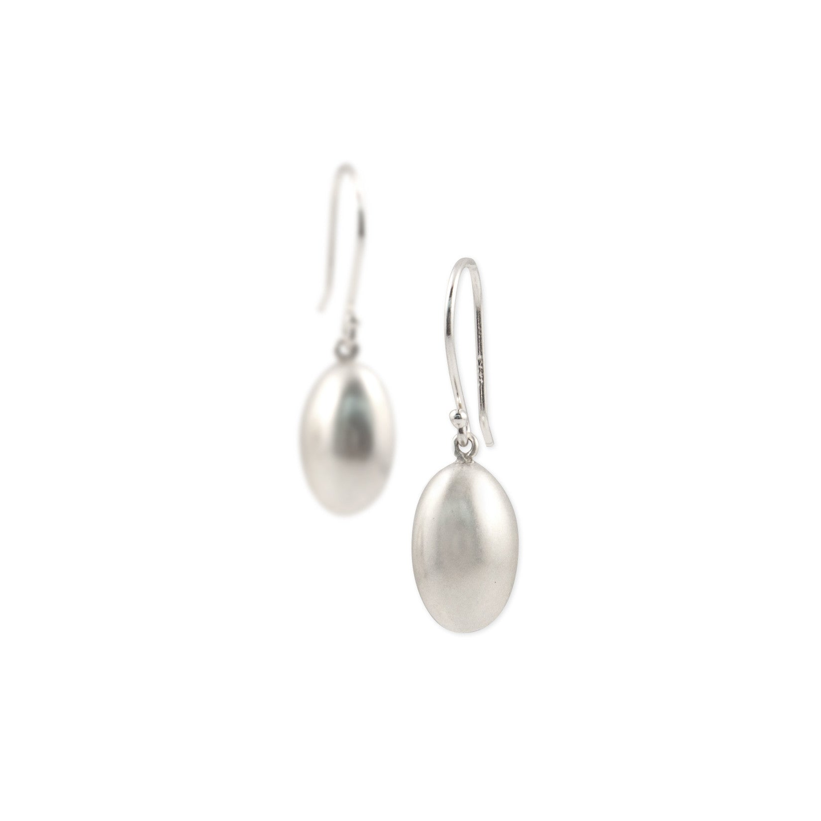 sterling silver egg drop earrings