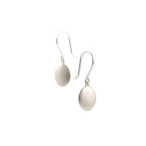 sterling silver small disc drop earrings