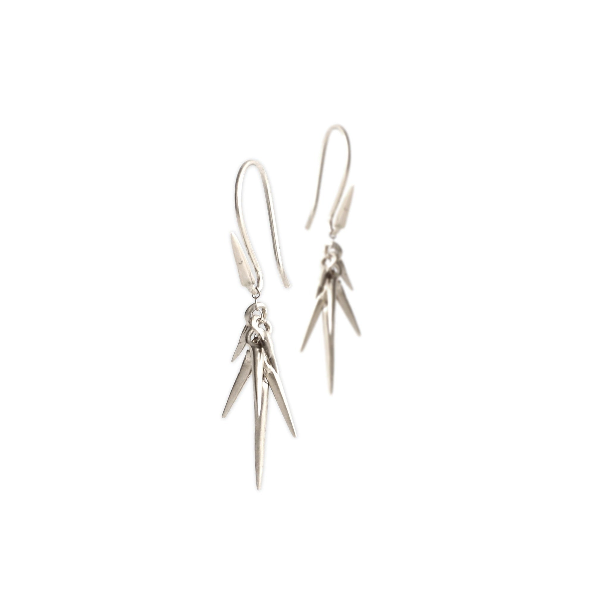 sterling silver - small small point cluster earrings