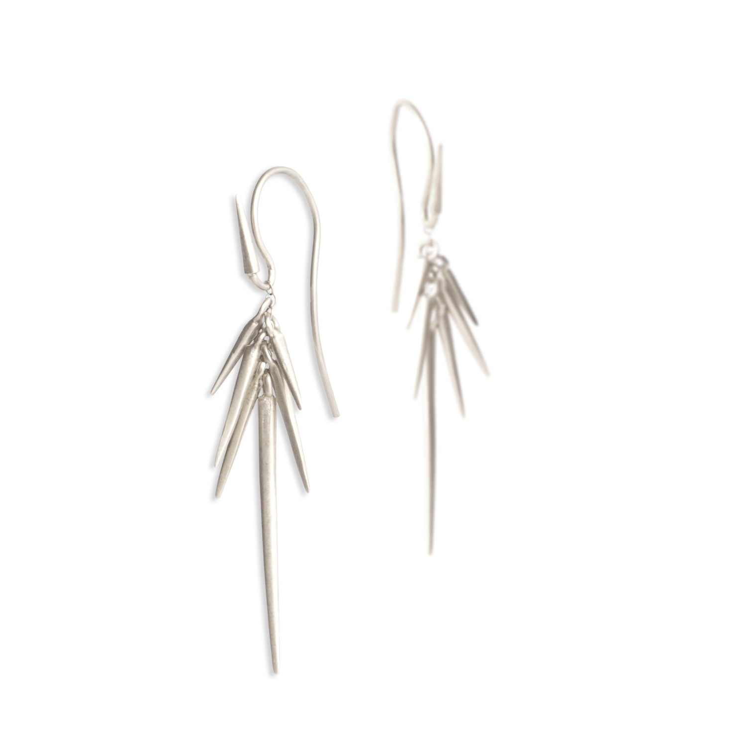 sterling silver - large small point cluster earrings
