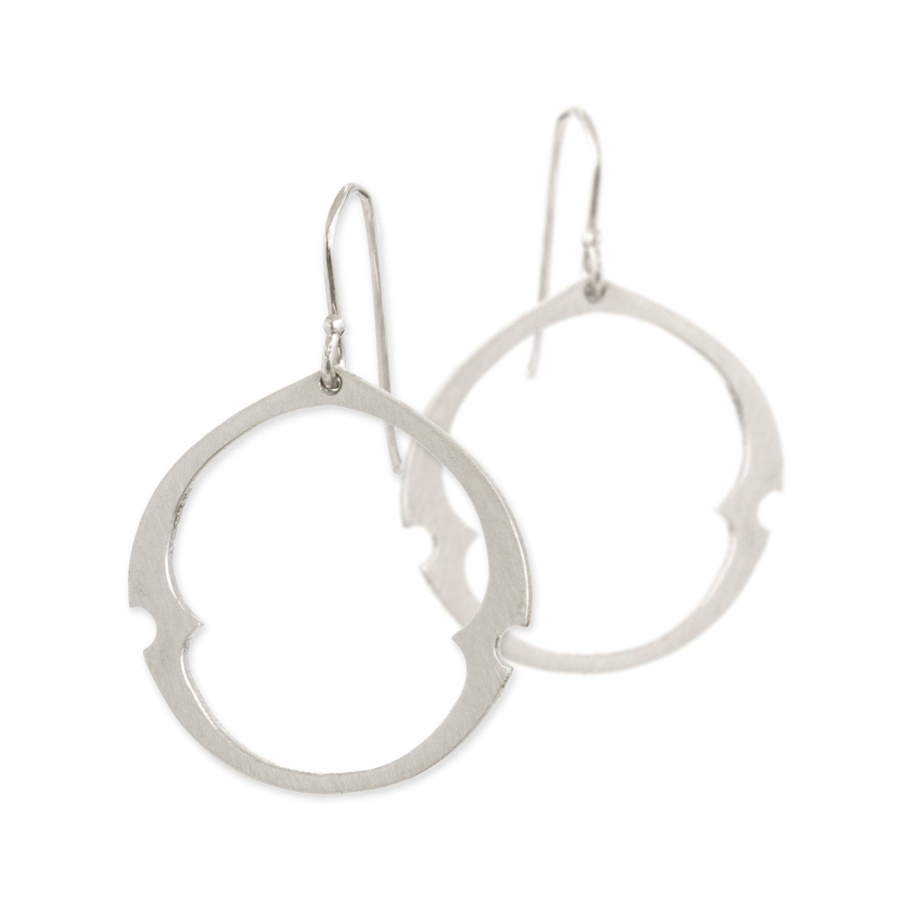 large / sterling silver arabesque oculus earrings