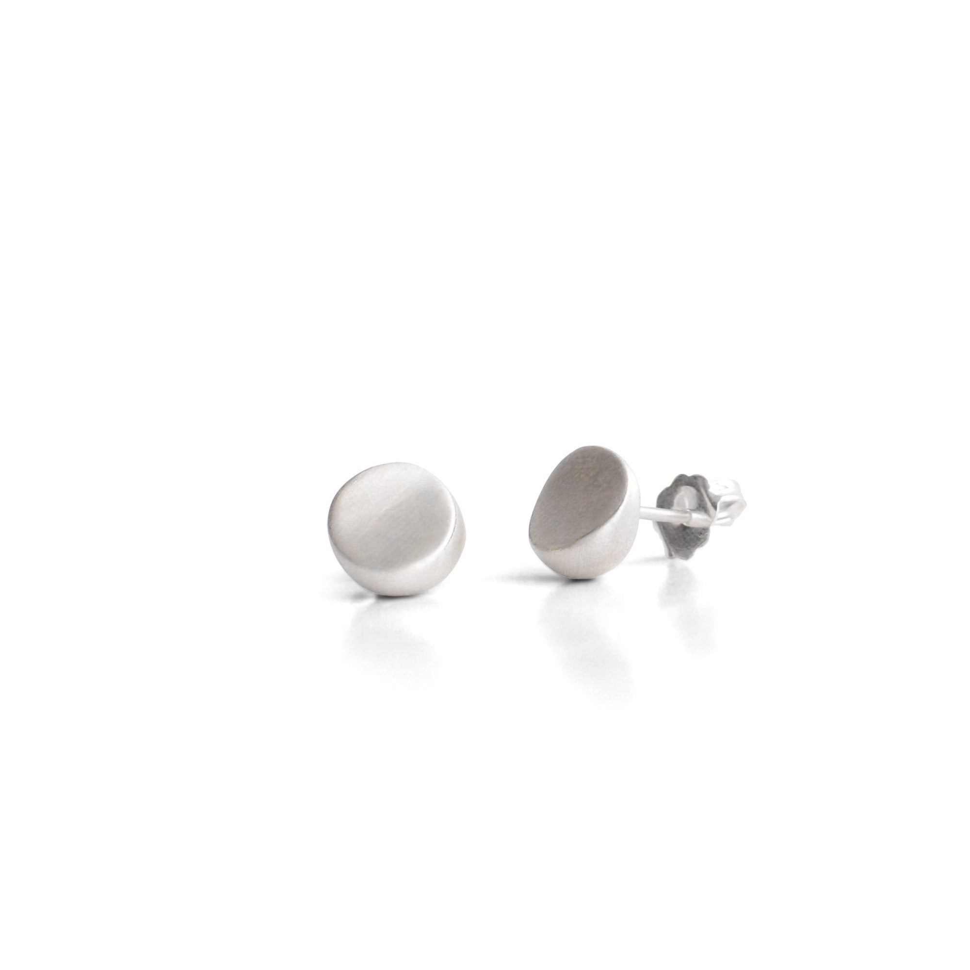 sterling silver round wedge studs