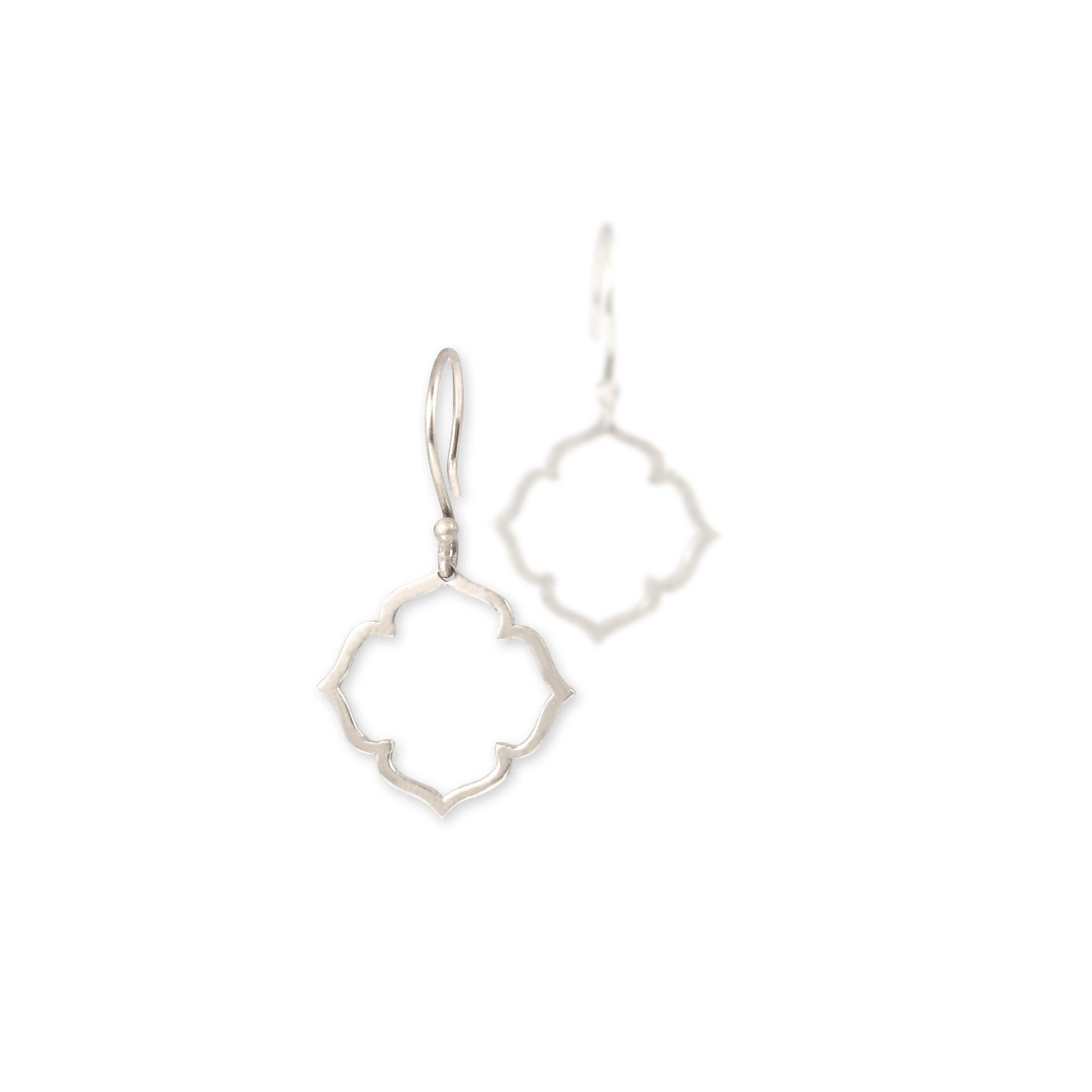 sterling silver small clover earrings