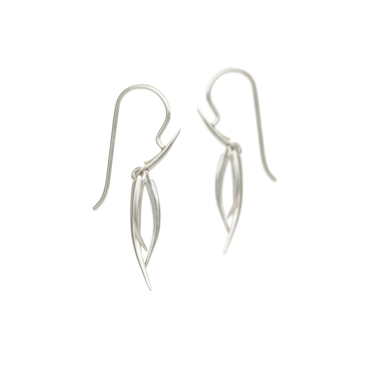 small / sterling silver ankole tassle earrings