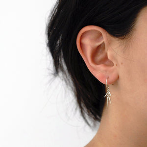 small point cluster earrings