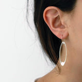 elongated oculus earrings