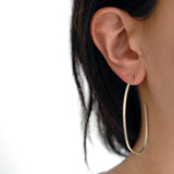 oval sliver hoops