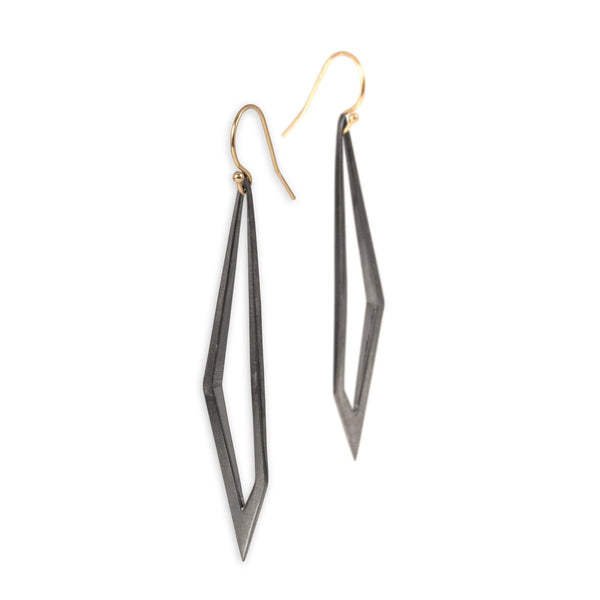 hedron dangle earrings
