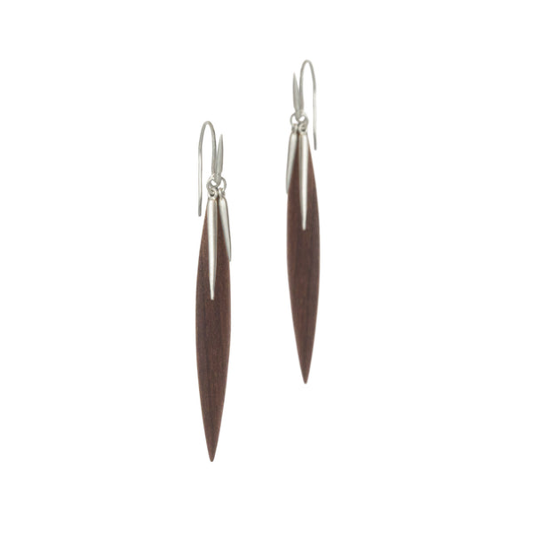 wood point scatter earrings