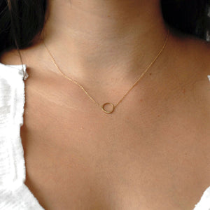 offset circle necklace