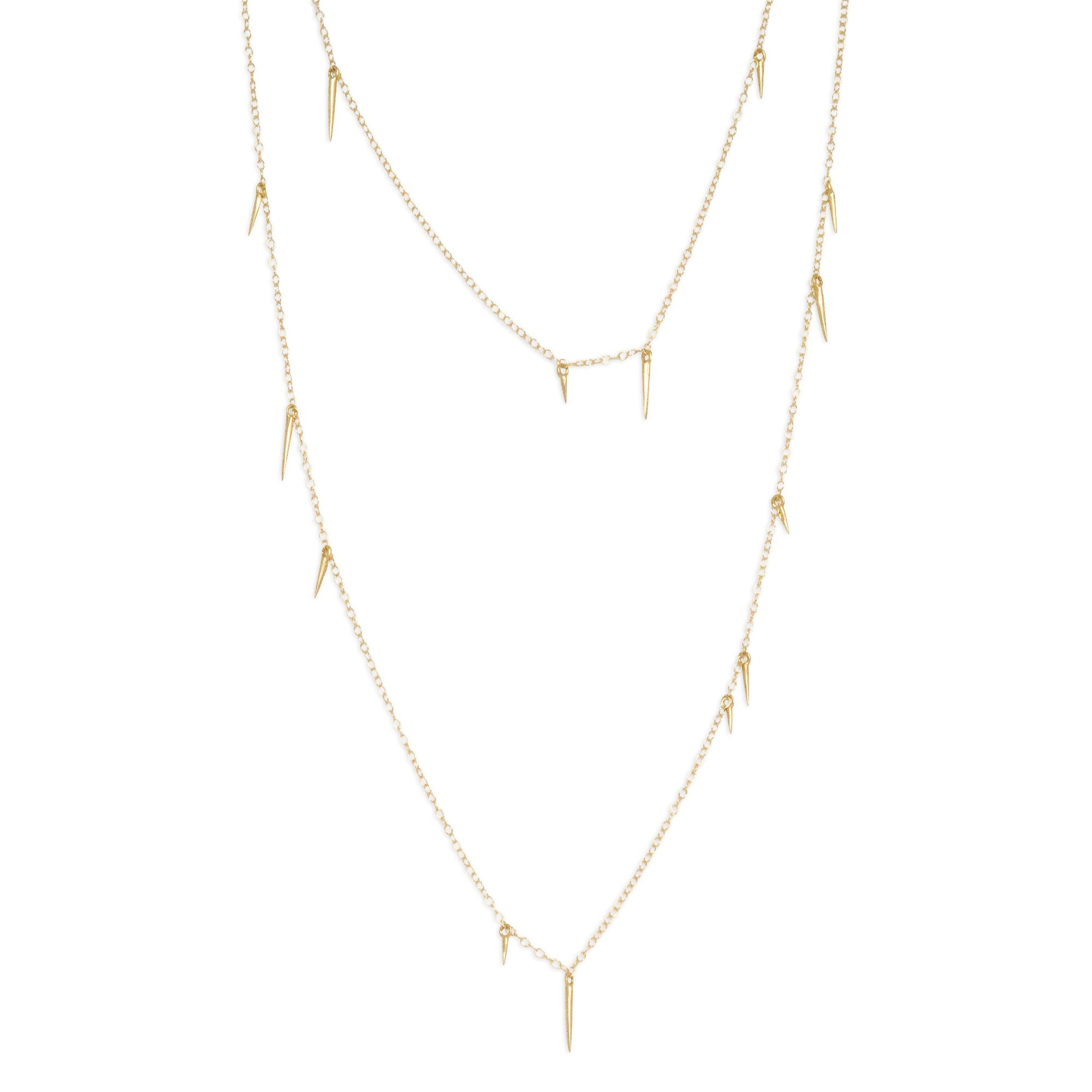 "14k yellow gold / 18"" small point scatter necklace"