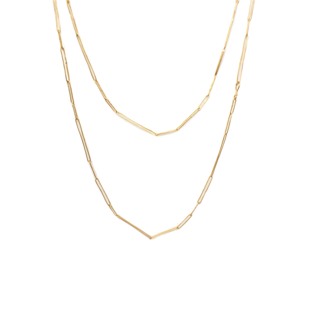 36 in / 18k yellow gold handmade 18k chain